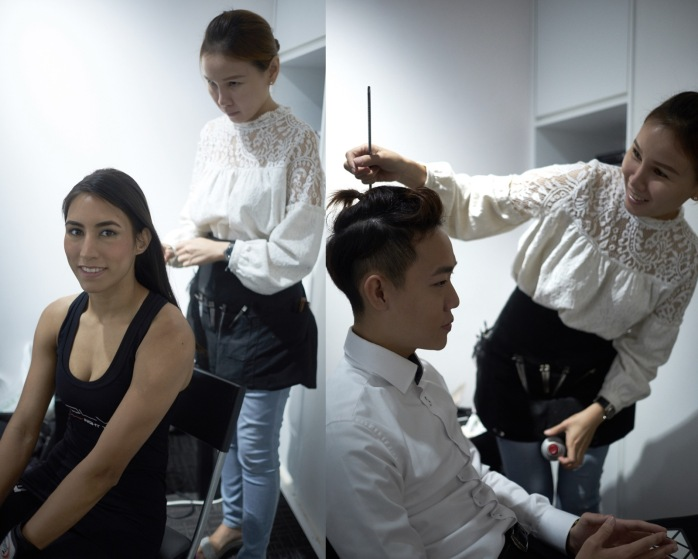 Make-up and hair by Christine Chia.