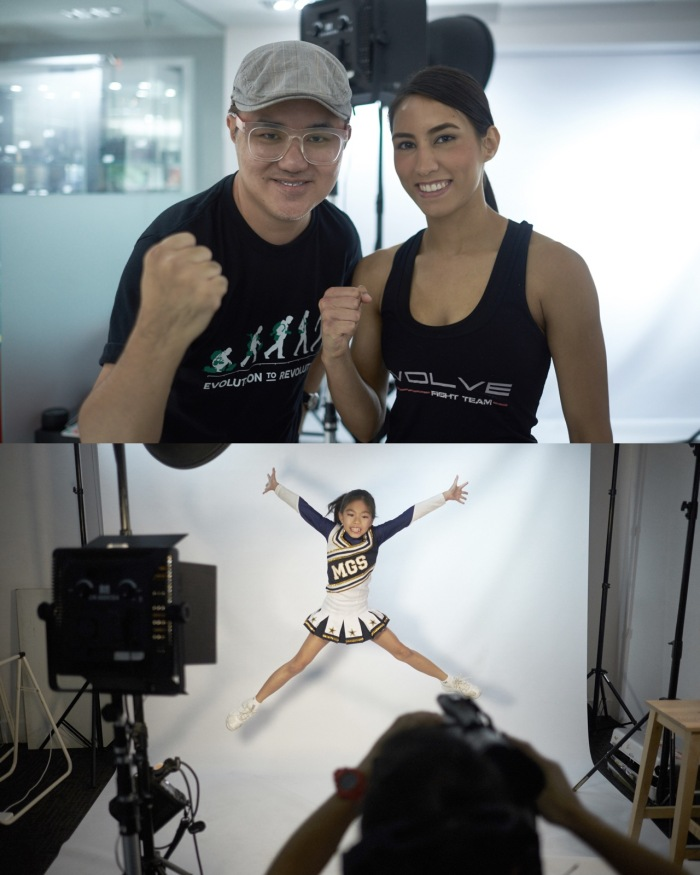 Lovely MMA fighter; Kirstie Gaannaway.  Isabelle doing a jump for me.