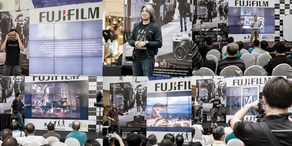 Talks by Fujifilm X-photographers. Chia Aik Beng, Rommel C. Bundalian, Benny Ang, Jan Gonzales, Elia Locardi and Ivan Joshua Loh