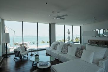 Living area of 3 bedroom pool villa.