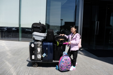All our luggages. We don't travel light! X100F