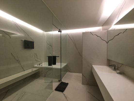 Our Uber Chic bathroom. Ora Hotel. iphone+ Oowa 15mm lens