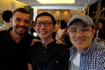 Jose Jeuland, Keith Wee and me.