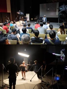 Conducting workshop at SHOOTSIN with GFX.