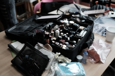 Make-up in session....