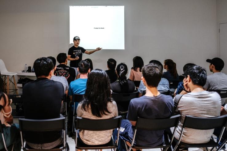 Lecture at Fujifilm studio. Photo by Jere