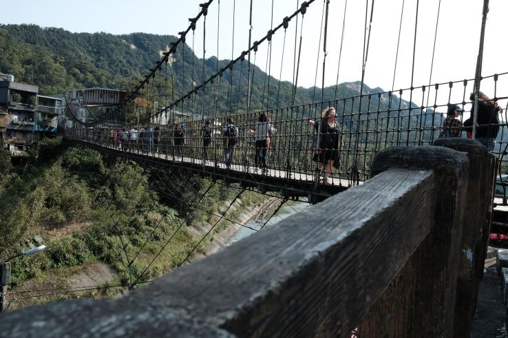 Jing An Suspension Bridge.