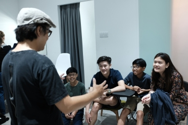 Briefing session with the teens.
