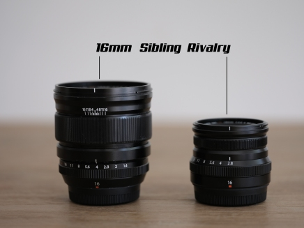Sibling Rivalry  XF16mm F2.8 WR vs XF16mmF1.4.