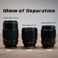 3 lenses. 10mm of Separation.