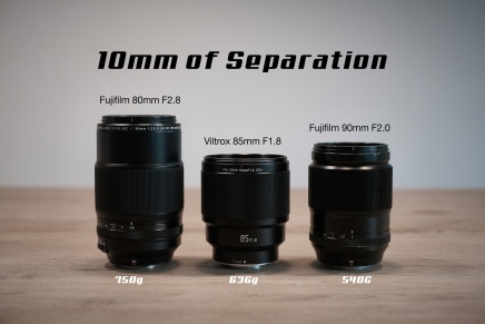 3 lenses. 10mm ofSeparation.