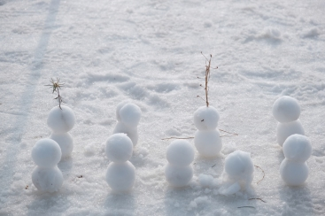 Summer's first snow men! XF16-80mm