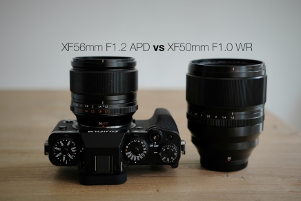 XF50mm F1.0 WR vs XF56mm F1.2APD