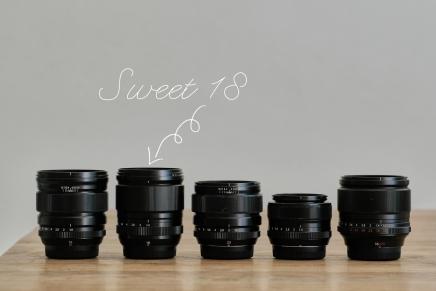 Sweet Eighteen. (XF18mmWR)